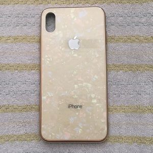 BRANDNEW Glass back Opal Marble Gold iPhoneXS MAX